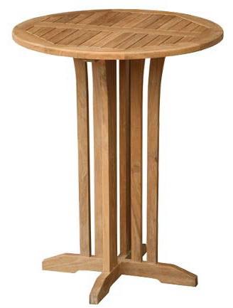 Stůl barový TIA MARIA TEAK kulatý 90 cm