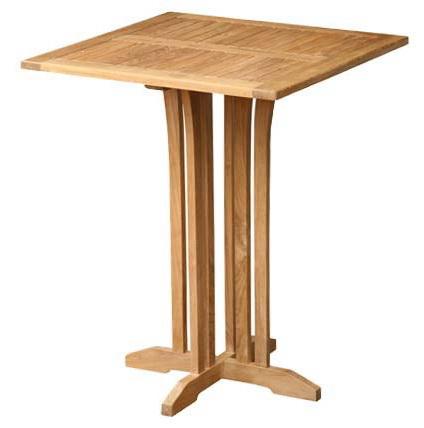 Stůl barový TIA MARIA TEAK čtvercový 90 cm