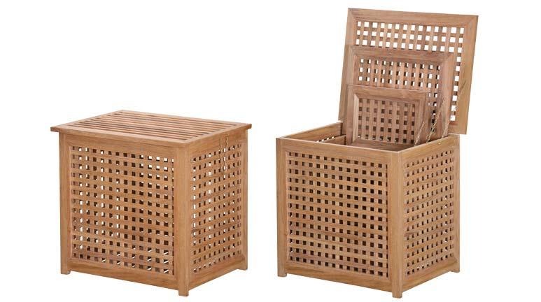 Set prádelních boxů DILI TEAK (3 ks)