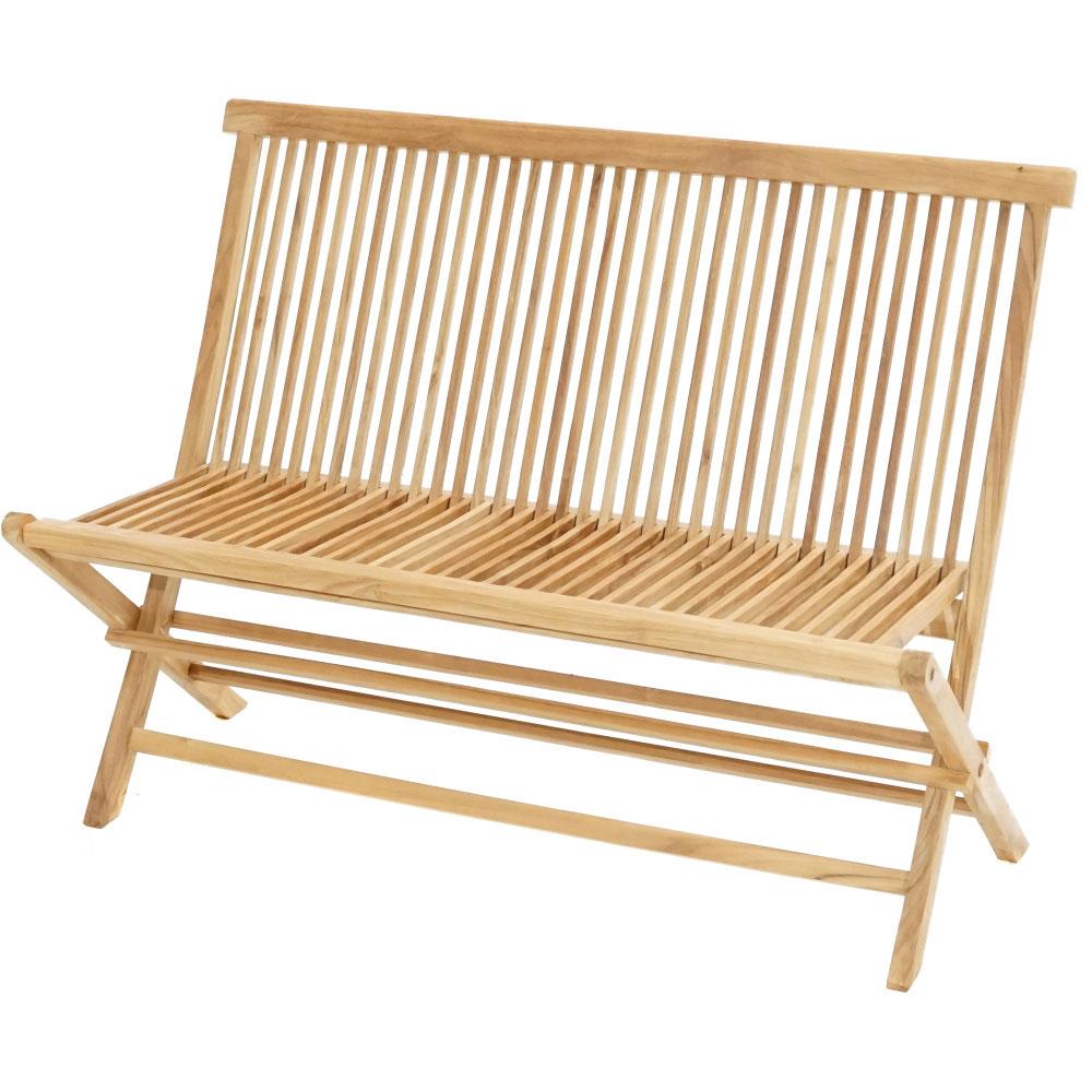 Teaková skládací lavice Milford - Premium natural teak Skládací - Legální dřevo z Indonésie - Indonésie